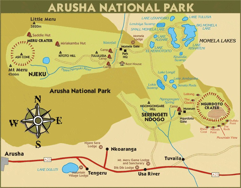 Arusha National Park - Vencha Travel & Tours